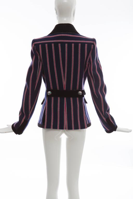 Nicolas Ghesquière for Balenciaga Runway Striped Wool Blazer, Fall 2007 In Excellent Condition For Sale In Cincinnati, OH
