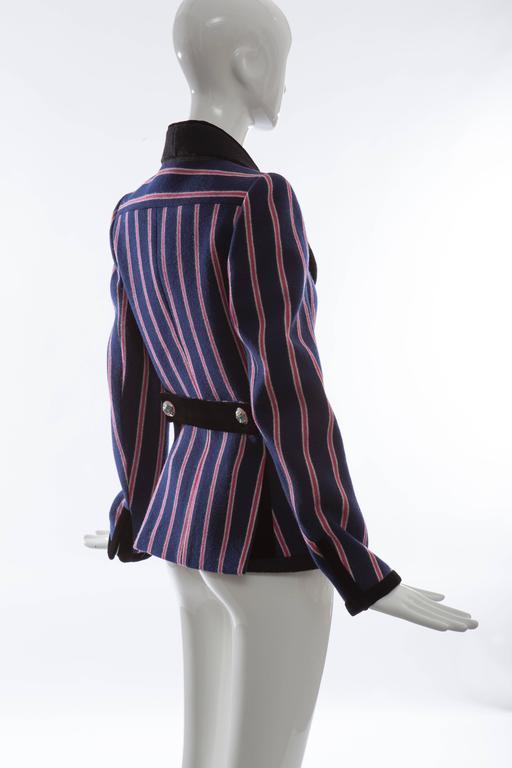 Nicolas Ghesquière for Balenciaga Runway Striped Wool Blazer, Fall 2007 For Sale 2