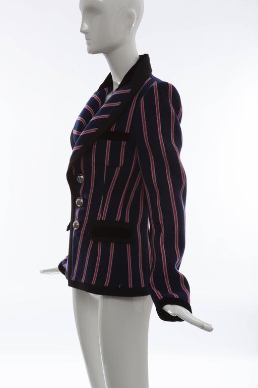 Nicolas Ghesquière for Balenciaga Runway Striped Wool Blazer, Fall 2007 For Sale 3