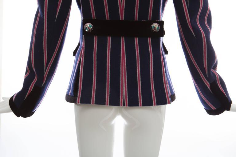 Nicolas Ghesquière for Balenciaga Runway Striped Wool Blazer, Fall 2007 For Sale 4