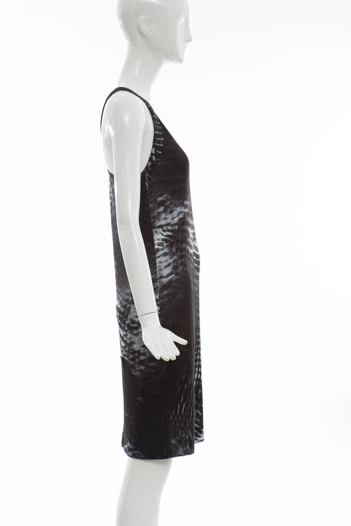 Tom Ford for Gucci Runway Black One-Shoulder Printed Dress , Spring 2000 In Excellent Condition For Sale In Cincinnati, OH