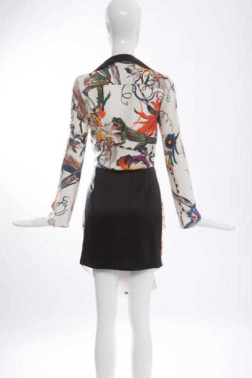 Nicolas Ghesquière For Balenciaga Silk Iguana Floral Print Dress, Fall 2011 In Excellent Condition For Sale In Cincinnati, OH