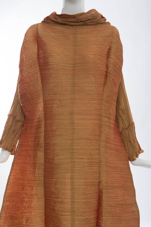 Issey Miyake Pleated Polyester Tidal Wave Dress, Autumn - Winter 1992 For Sale 1