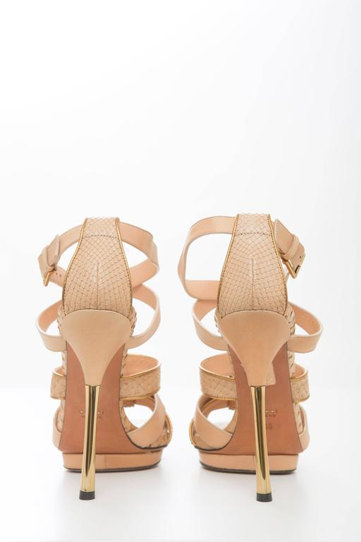 Gucci Leather Platform Sandal With Rose Gold Heel 5