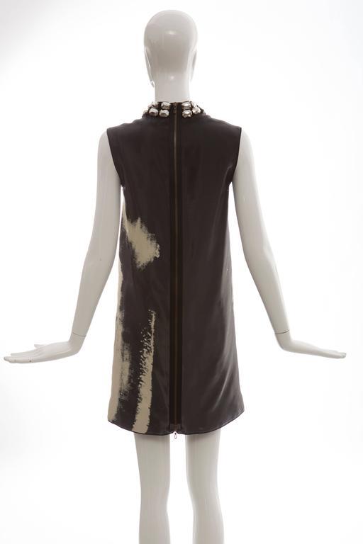 Alber Elbaz For Lanvin Silk Nylon Shift Dress Spring