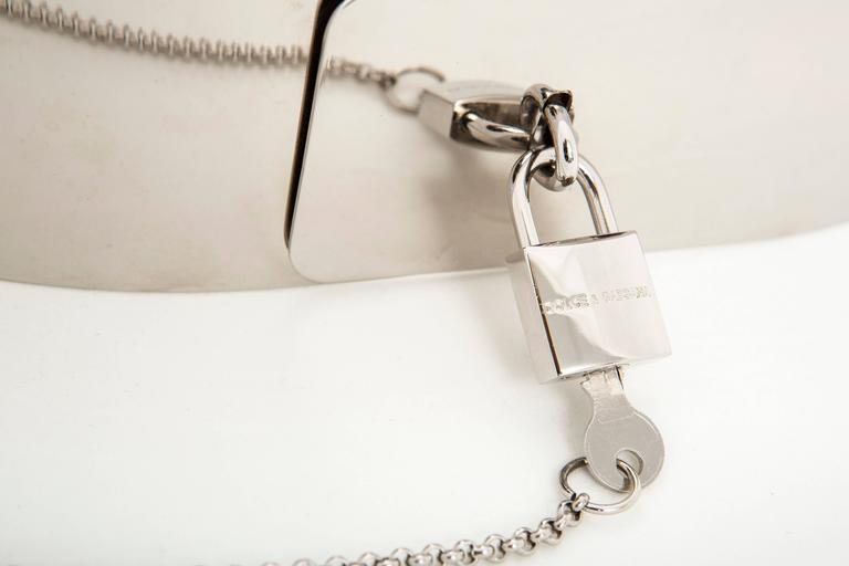 Women's Dolce & Gabbana Padlock Metal Belt, Autumn - Winter 2007 For Sale