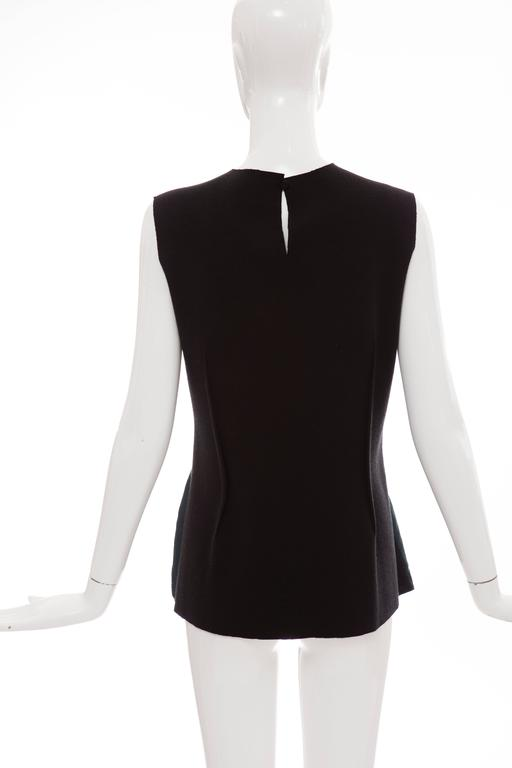 Lanvin By Alber Elbaz Sleeveless Trompe l'oeil  Silk Embellished Top Circa 2006 In Excellent Condition For Sale In Cincinnati, OH