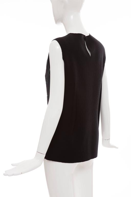 Lanvin By Alber Elbaz Sleeveless Trompe l'oeil  Silk Embellished Top Circa 2006 For Sale 2
