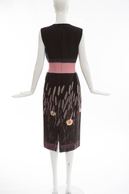 Prada Silk Cotton Printed Sleeveless Sheath Dress, Spring - Summer 1998 In Excellent Condition For Sale In Cincinnati, OH