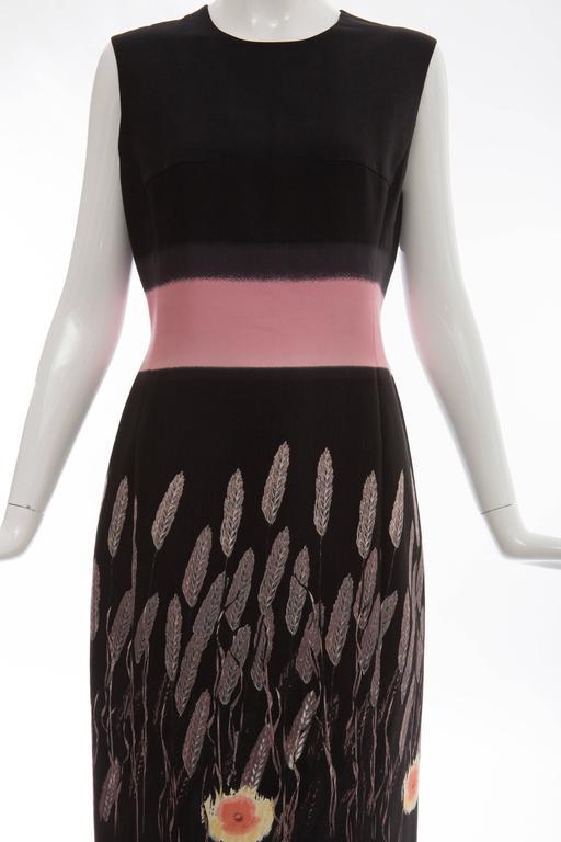 Prada Silk Cotton Printed Sleeveless Sheath Dress, Spring - Summer 1998 For Sale 1