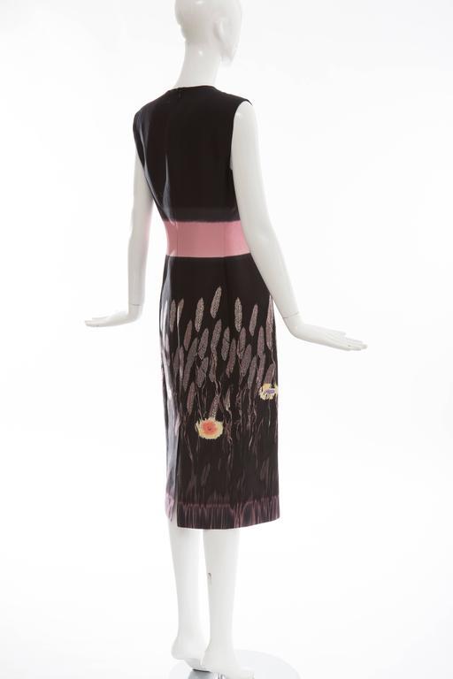 Prada Silk Cotton Printed Sleeveless Sheath Dress, Spring - Summer 1998 For Sale 2