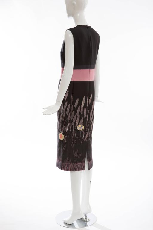 Prada Silk Cotton Printed Sleeveless Sheath Dress, Spring - Summer 1998 For Sale 3