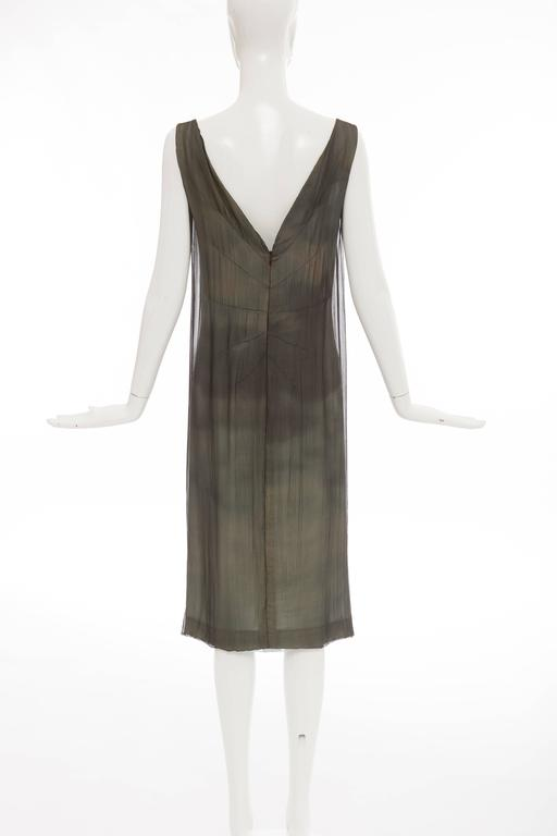 Dolce & Gabbana Stromboli Collection Silk Chiffon Dress, Spring - Summer 1998 In Excellent Condition For Sale In Cincinnati, OH