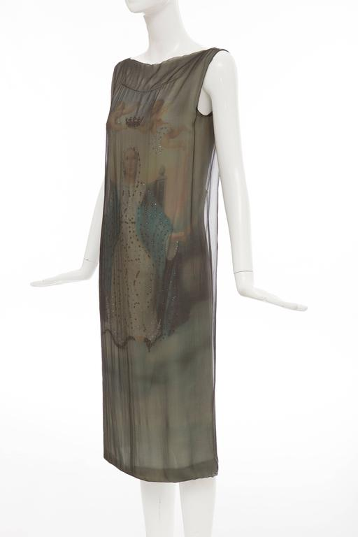 Dolce & Gabbana Stromboli Collection Silk Chiffon Dress, Spring - Summer 1998 For Sale 3