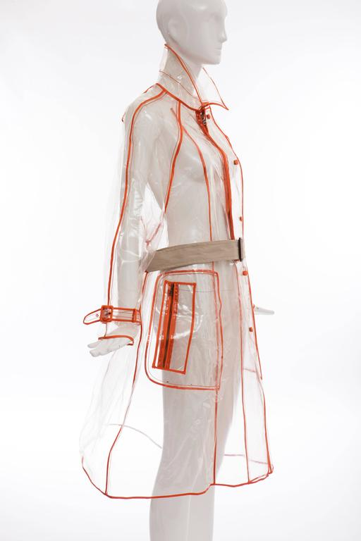 Women's Prada Transparent PVC Rain Coat, Autumn / Winter 2002  For Sale