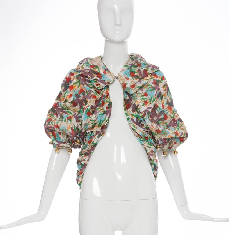 Tao Comme des Garcons Floral Cotton Pleated Jacket, Spring -Summer 2009 3