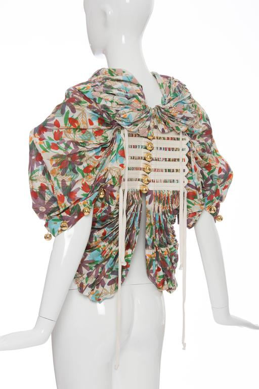Tao Comme des Garcons Floral Cotton Pleated Jacket, Spring -Summer 2009 In New Never_worn Condition For Sale In Cincinnati, OH
