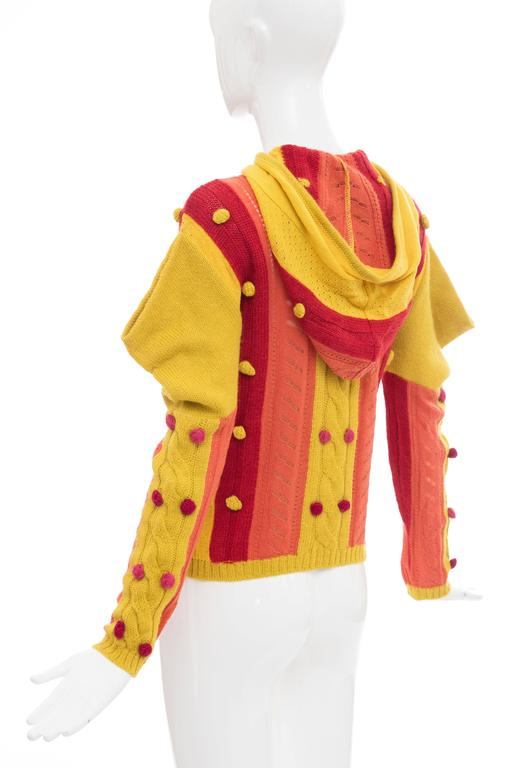 John Galliano for Christian Dior Knit Zip Front Cardigan, Fall 2002 For Sale 4
