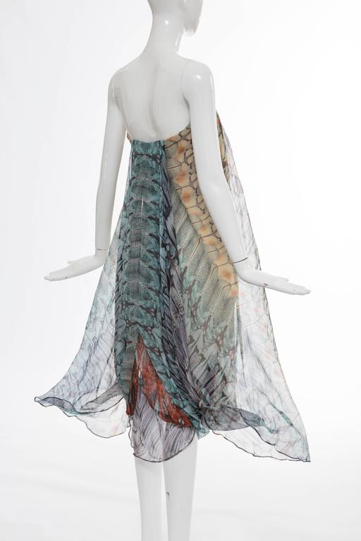 Alexander McQueen Butterfly Printed Silk Chiffon Dress, Spring - Summer 2008 For Sale 3