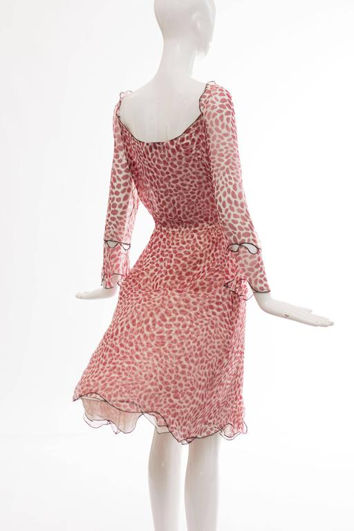 Tom Ford For Yves Saint Laurent Silk Chiffon Lip Print Wrap Dress, Spring 2004 For Sale 3