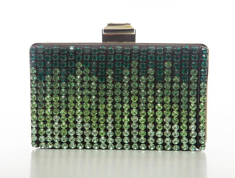 Alber Elbaz For Lanvin Minaudière Clutch Graduating Ombre Crystals, Spring 2012 In Excellent Condition For Sale In Cincinnati, OH
