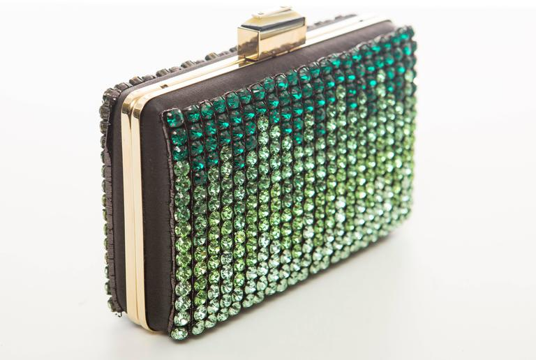 Women's Alber Elbaz For Lanvin Minaudière Clutch Graduating Ombre Crystals, Spring 2012 For Sale