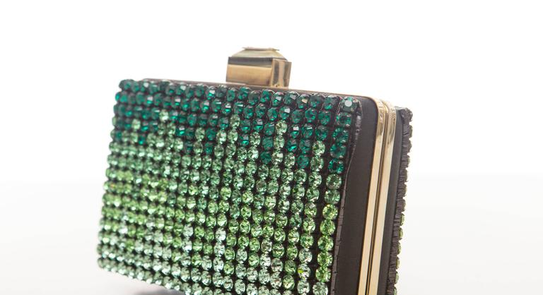 Alber Elbaz For Lanvin Minaudière Clutch Graduating Ombre Crystals, Spring 2012 For Sale 2