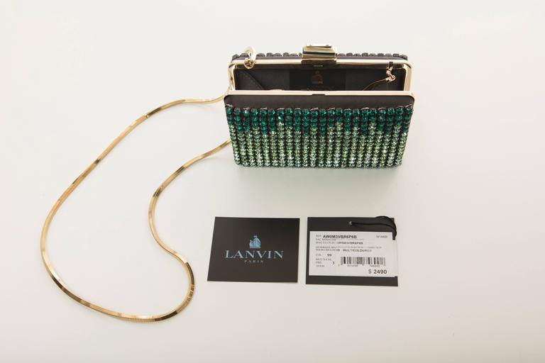 Alber Elbaz For Lanvin Minaudière Clutch Graduating Ombre Crystals, Spring 2012 For Sale 4