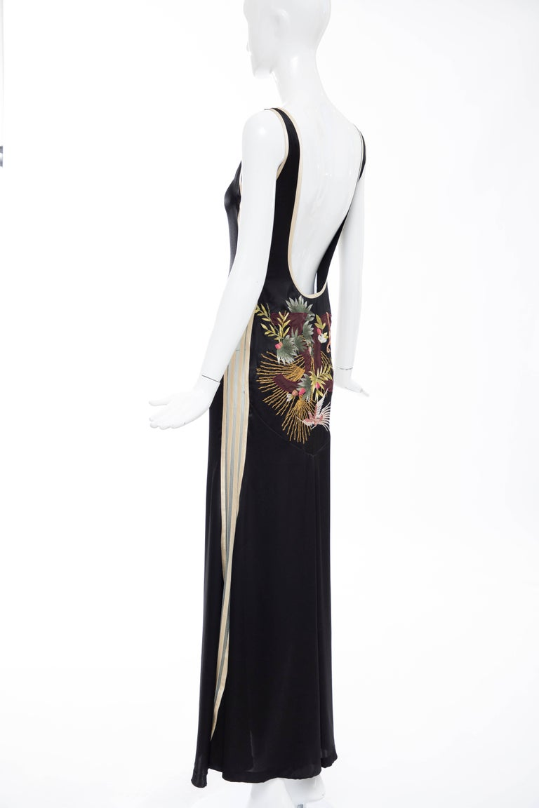 Jean Paul Gaultier Silk Embroidered Evening Dress, Spring 2007 3