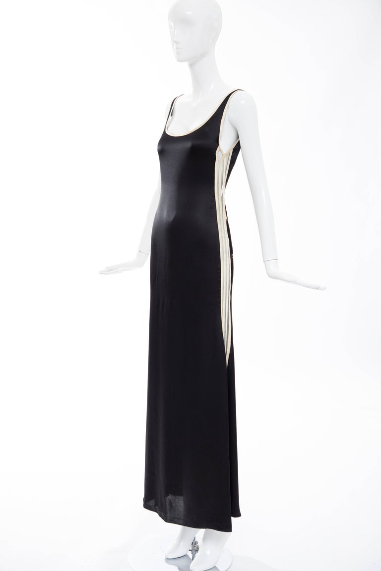 Jean Paul Gaultier Silk Embroidered Evening Dress, Spring 2007 5