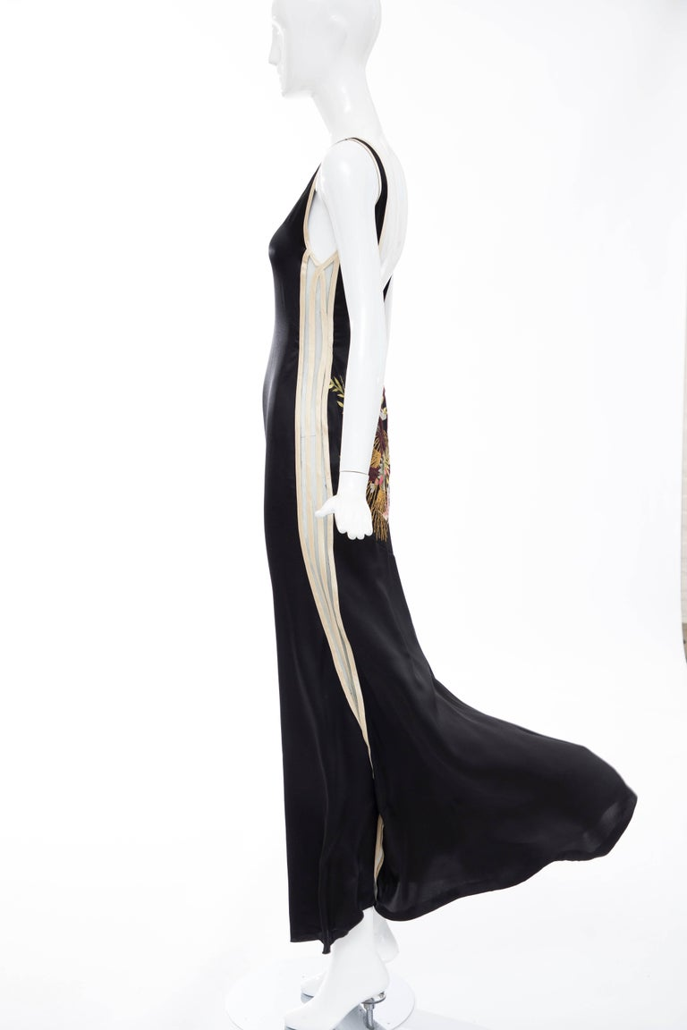 Jean Paul Gaultier Silk Embroidered Evening Dress, Spring 2007 6
