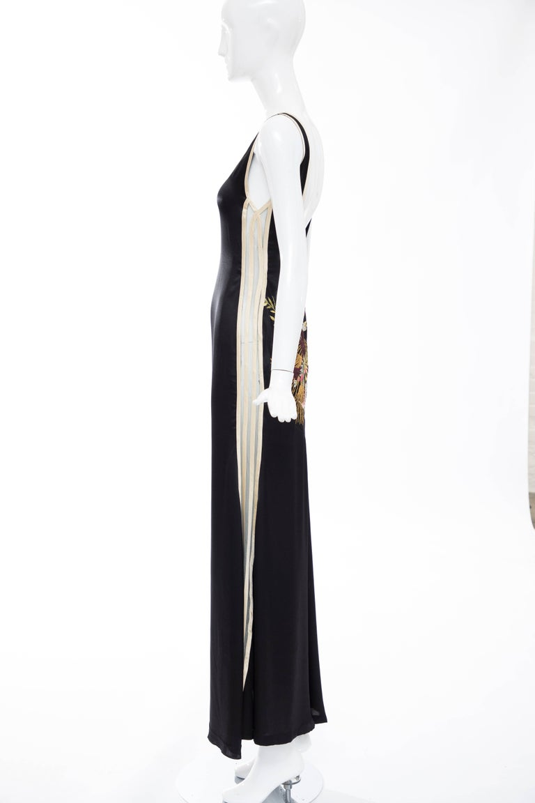 Jean Paul Gaultier Silk Embroidered Evening Dress, Spring 2007 7