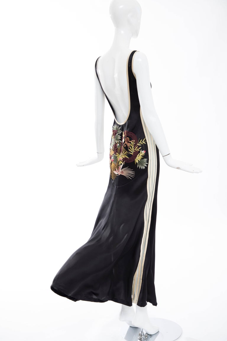 Jean Paul Gaultier Silk Embroidered Evening Dress, Spring 2007 8