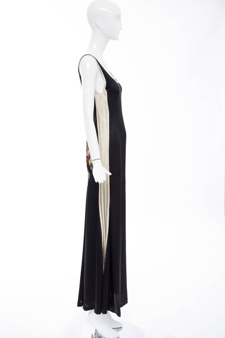 Jean Paul Gaultier Silk Embroidered Evening Dress, Spring 2007 9