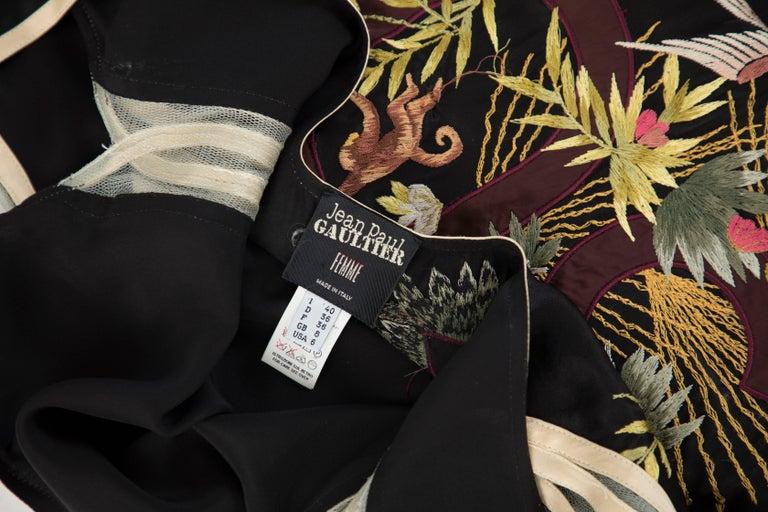 Jean Paul Gaultier Silk Embroidered Evening Dress, Spring 2007 10
