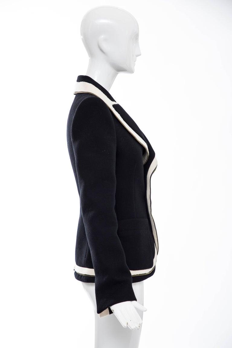 Women's Nicolas Ghesquière for Balenciaga Runway Black Wool Blazer Zip Trim , Fall 2007 For Sale