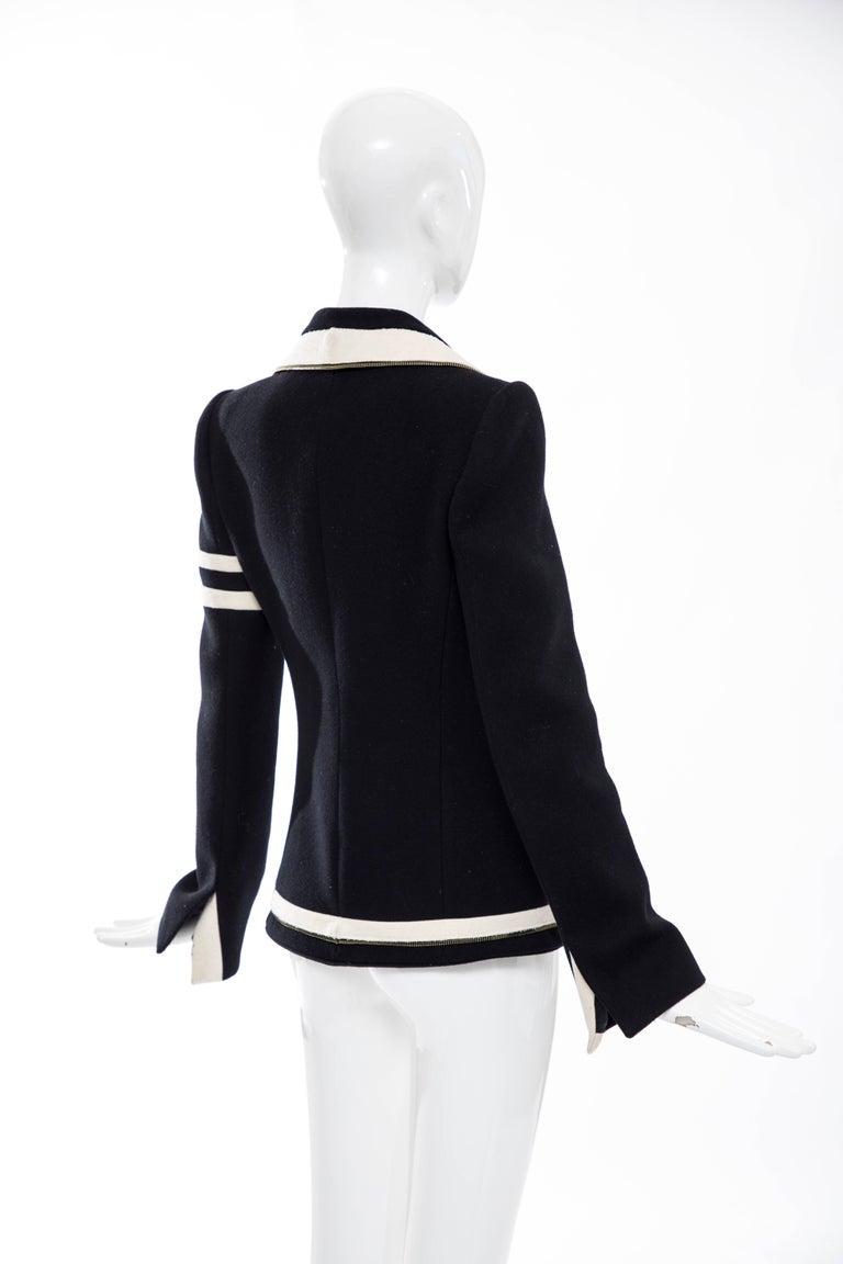 Nicolas Ghesquière for Balenciaga Runway Black Wool Blazer Zip Trim , Fall 2007 For Sale 2