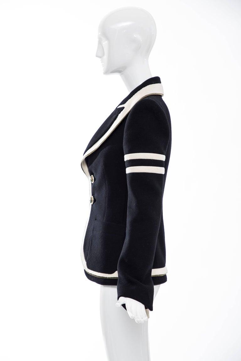 Nicolas Ghesquière for Balenciaga Runway Black Wool Blazer Zip Trim , Fall 2007 For Sale 3
