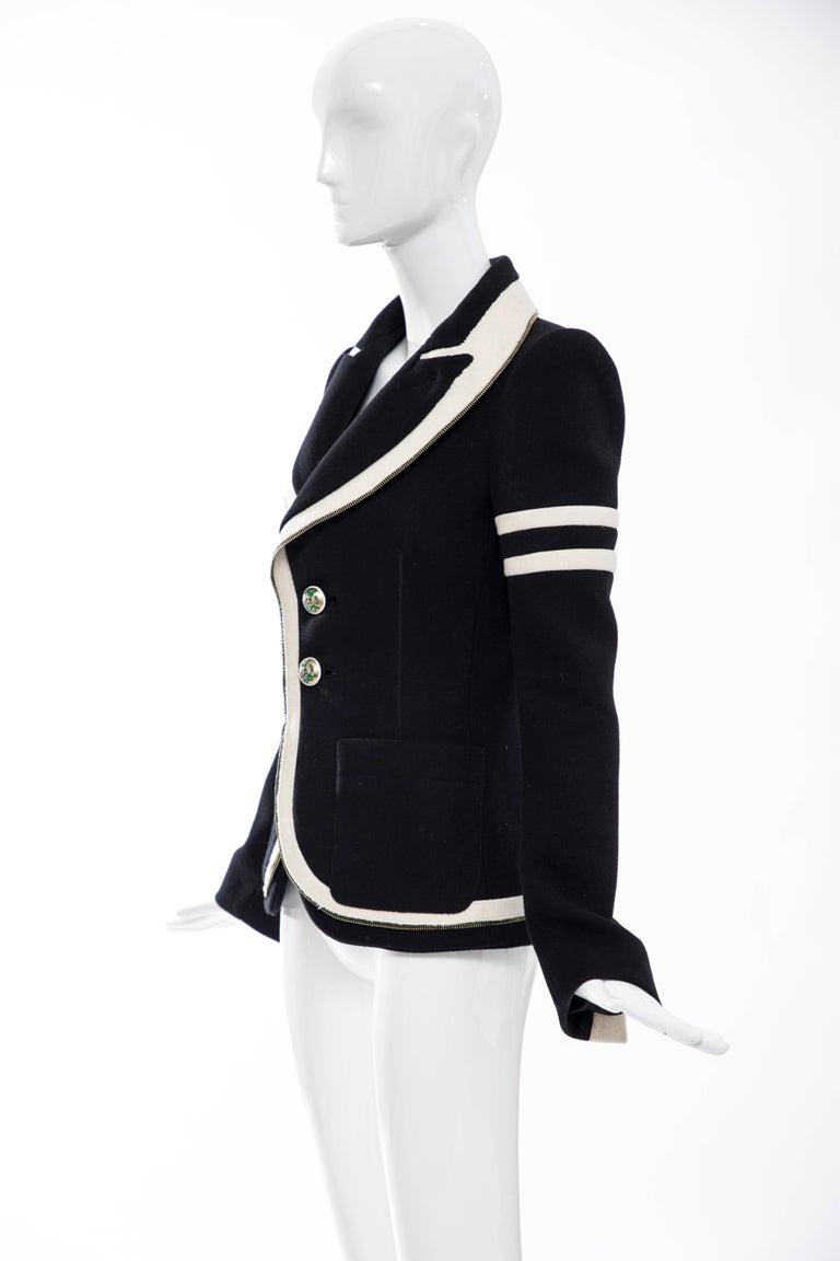 Nicolas Ghesquière for Balenciaga Runway Black Wool Blazer Zip Trim , Fall 2007 For Sale 4