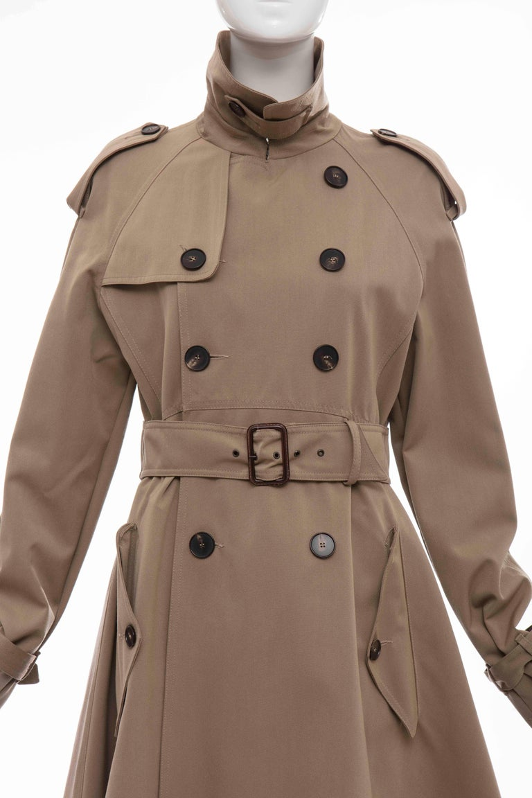 Women's or Men's Jean Paul Gaultier Runway Wool Double - Breasted Trench Coat, Fall 2007 For Sale