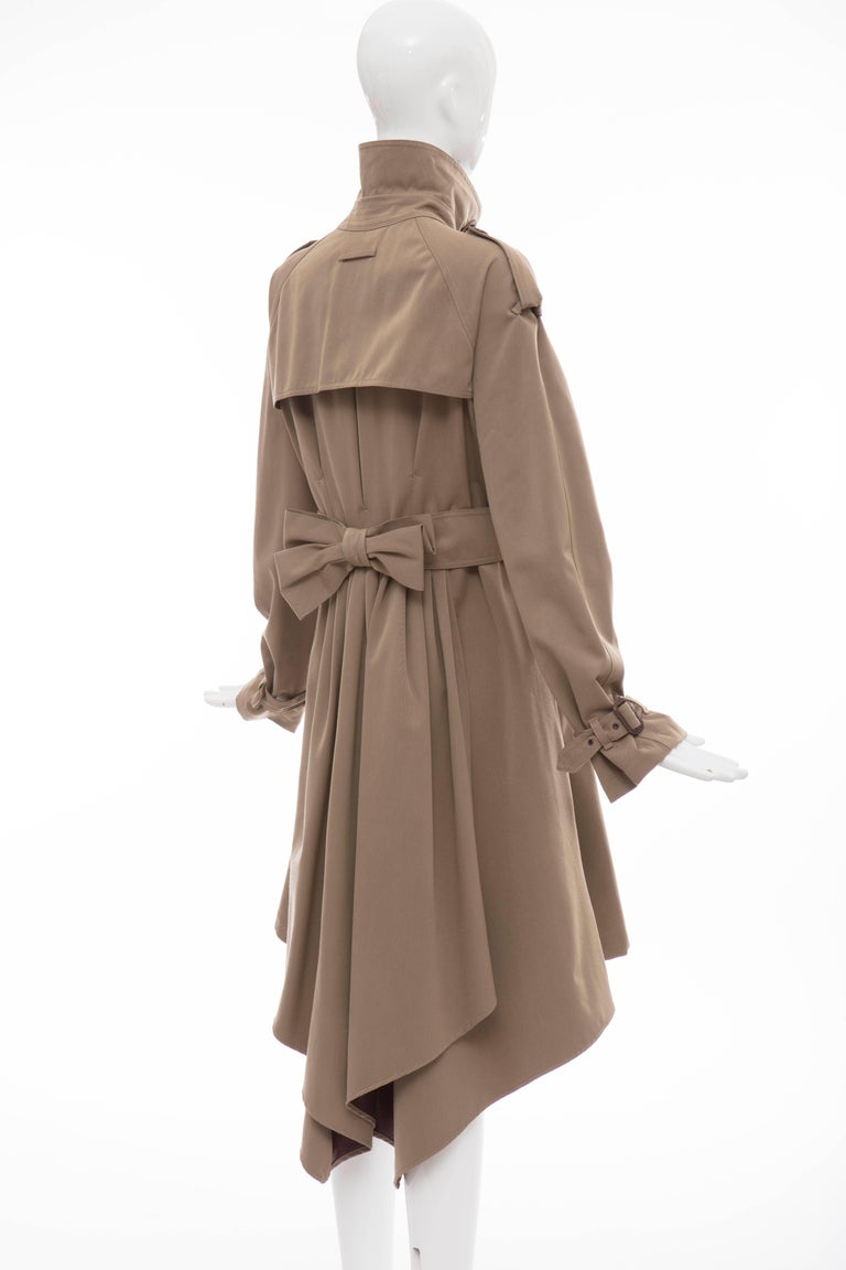 Jean Paul Gaultier Runway Wool Double - Breasted Trench Coat, Fall 2007 For Sale 1