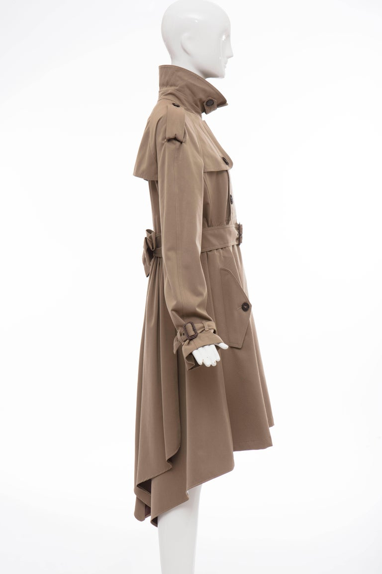 Jean Paul Gaultier Runway Wool Double - Breasted Trench Coat, Fall 2007 For Sale 3