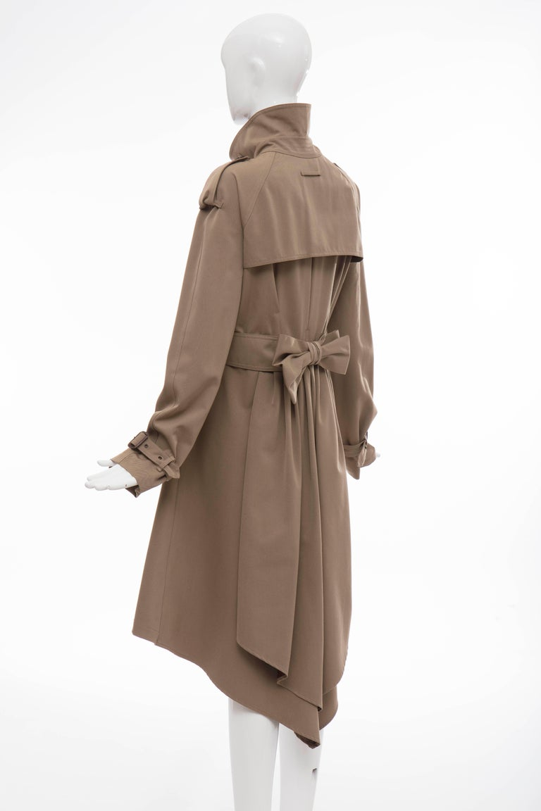Jean Paul Gaultier Runway Wool Double - Breasted Trench Coat, Fall 2007 For Sale 4
