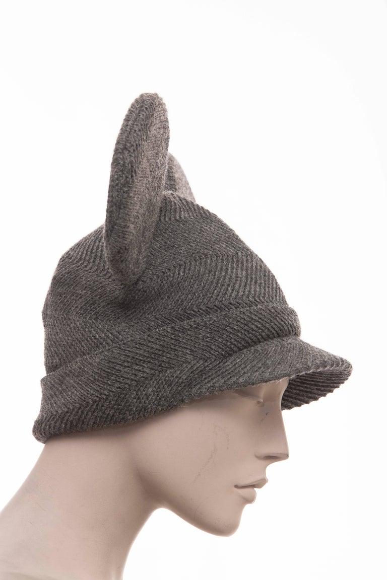 040ea68430cfb Gray Comme des Garcons Stephen Jones Grey Wool Herringbone Mouse Ears Hat