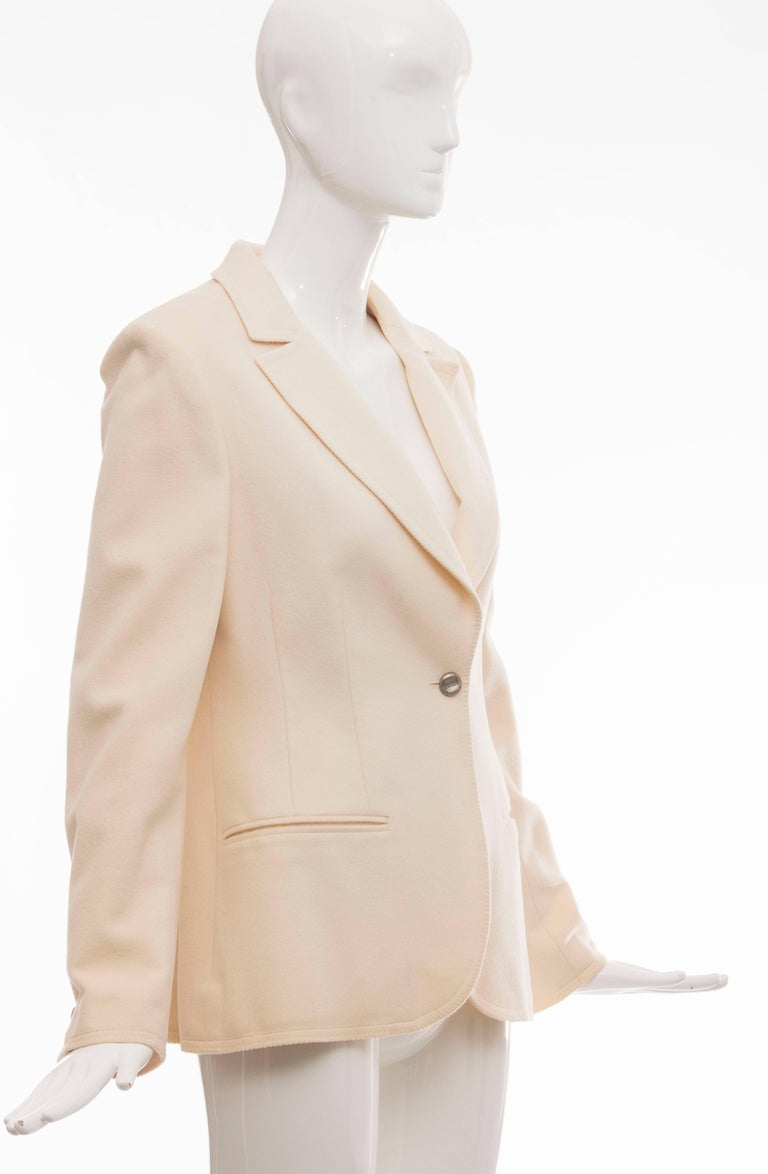 Chanel Cream Wool Button Front Jacket,  Pre - Fall 1998 In Excellent Condition For Sale In Cincinnati, OH