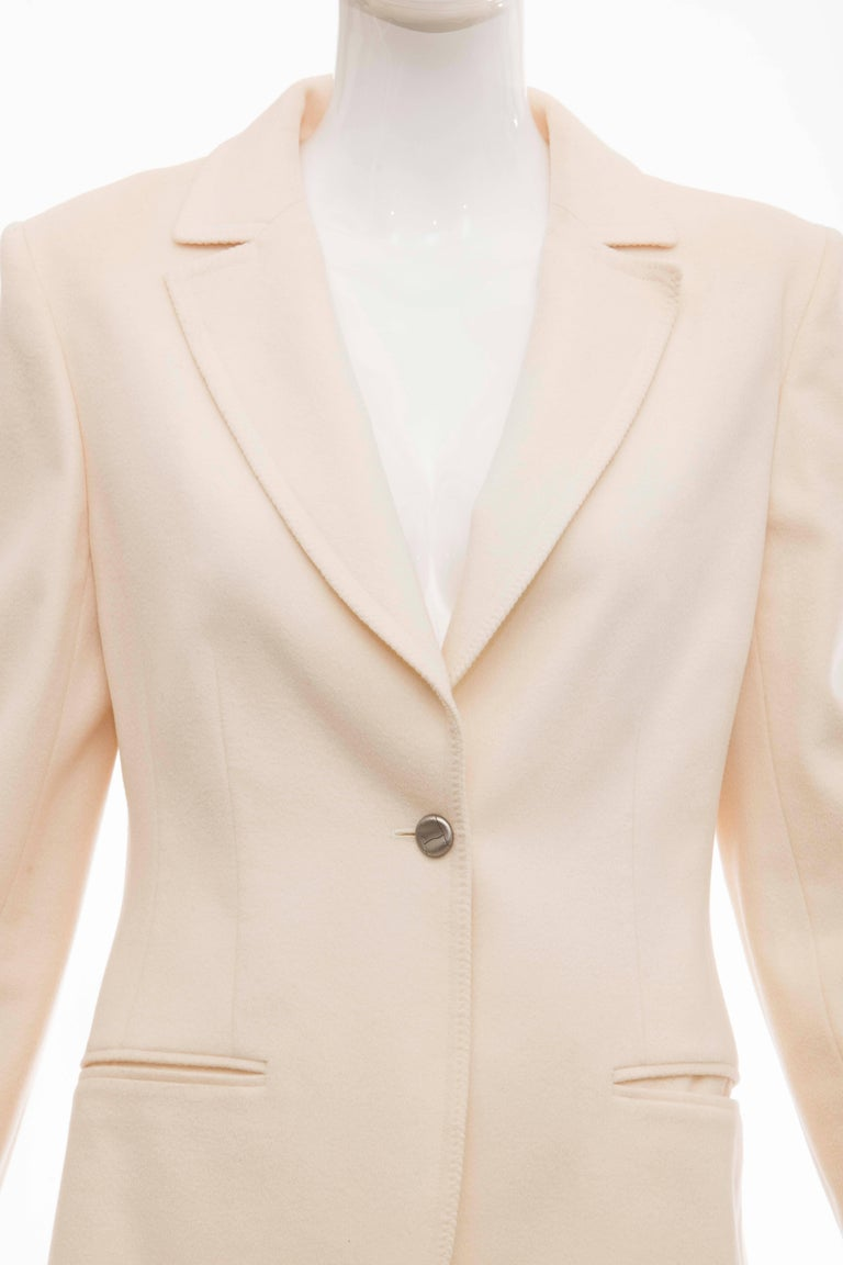 Women's Chanel Cream Wool Button Front Jacket,  Pre - Fall 1998 For Sale