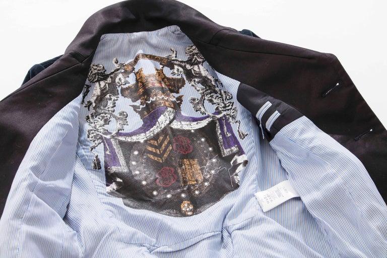 Nicolas Ghesquière for Balenciaga Runway Navy Blue Velvet Blazer, Fall 2007  For Sale 5