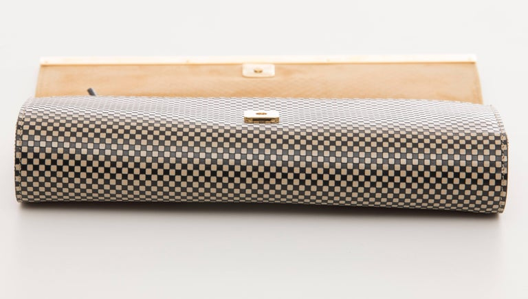 Women's or Men's Fendi Graphic Snakeskin Clutch, Spring 2013 For Sale