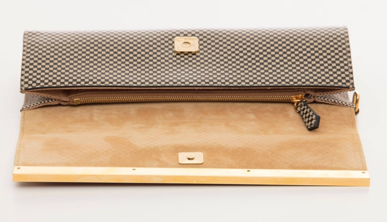 Fendi Graphic Snakeskin Clutch, Spring 2013 For Sale 1