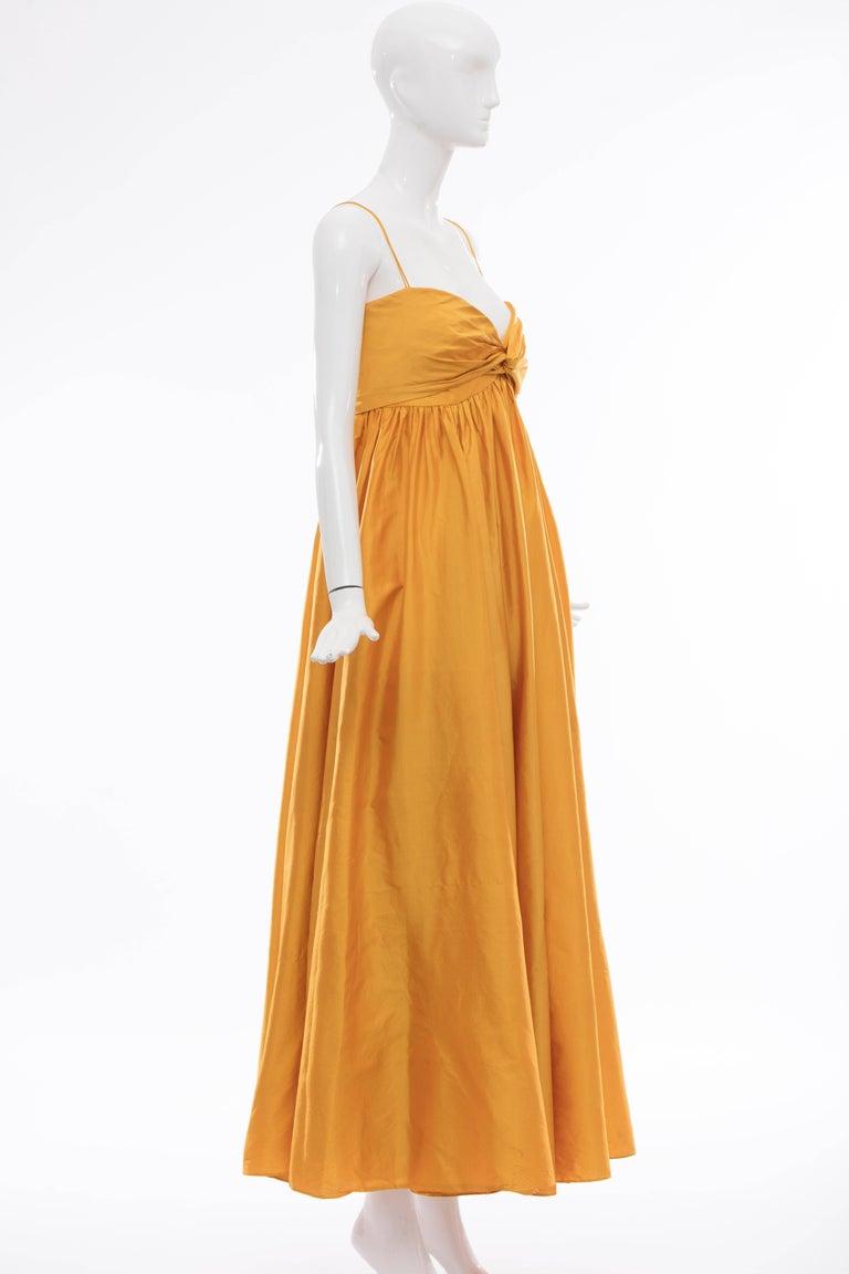 Donna Karan Silk Marigold Evening Dress, Circa 1980s In Excellent Condition For Sale In Cincinnati, OH